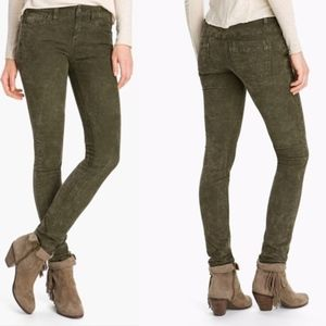 Free People Mineral Wash Skinny Cords Green